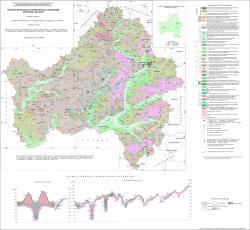 Геологическая карта четвертичных отложений Брянской области