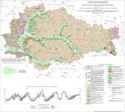 Геологическая карта четвертичных отложений Курской области.
