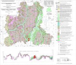 Геологическая карта четвертичных отложений Липецкой области.