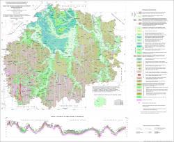 Геологическая карта четвертичных отложений Рязанской области.