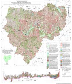 Геологическая карта четвертичных отложений Смоленской области