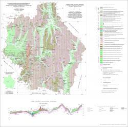 Геологическая карта четвертичных отложений Тамбовской области.