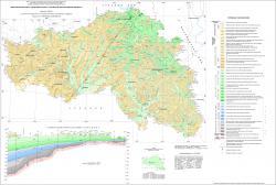 Геологическая карта дочетвертичных отложений Белгородской области