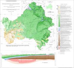 Геологическая карта дочетвертичных отложений Брянской области
