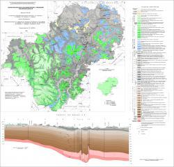 Геологическая карта дочетвертичных отложений Калужской области