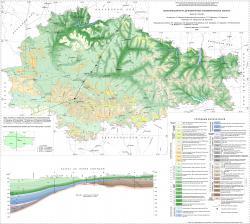Геологическая карта дочетвертичных отложений Курской области.