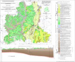Геологическая карта дочетвертичных отложений Липецкой области