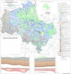 Геологическая карта дочетвертичных отложений Московской области