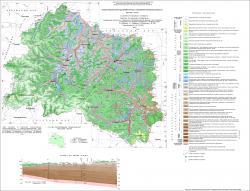Геологическая карта дочетвертичных отложений Орловской области