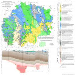 Геологическая карта дочетвертичных отложений Рязанской области.
