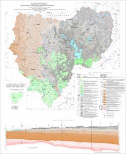 Геологическая карта дочетвертичных отложений Смоленской области.