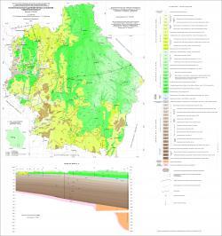 Геологическая карта дочетвертичных отложений Тамбовской области