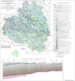 Геологическая карта дочетвертичных отложений Тульской области