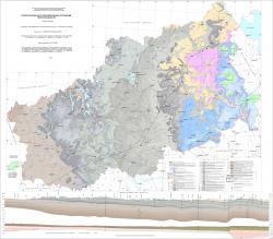 Геологическая карта дочетвертичных отложений Тверской области