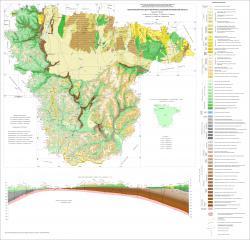 Геологическая карта дочетвертичных отложений Воронежской области