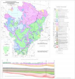 Геологическая карта дочетвертичных отложений Ярославской области