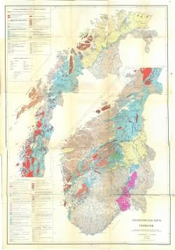 Геологическая карта Норвегии