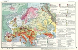 """Геоморфологическая карта Европы (из """"Физико-географический Атлас Мира"""")"""