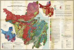 Гидрогеологическая карта Хабаровского края и Амурской области