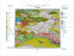 J-37-Б (Erzurum). Turkiye Jeoloji Haritasi (Geological map of Turkey)