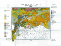 J-37-В (Hatay). Turkiye Jeoloji Haritasi (Geological map of Turkey)