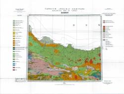 K-37-В (Samsun). Turkiye Jeoloji Haritasi (Geological map of Turkey)