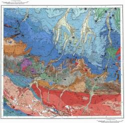 K-37-VI. Карта полезных ископаемых СССР. Серия Кавказская