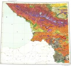 K-(37),(38). Государственная геологическая карта СССР (Тбилиси). Карта четвертичных образований