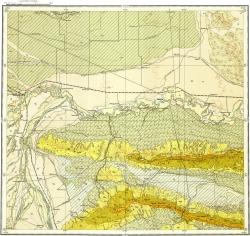 K-38-III Геологическая карта СССР. Серия Кавказская