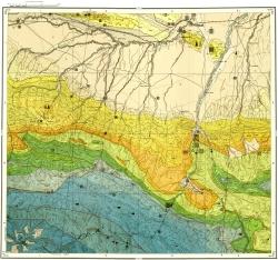 K-38-X Карта полезных ископаемых СССР. Серия Кавказская