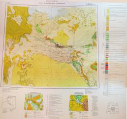 K-(40), (41) (Нукус). Карта дочетвертичных образований СССР.