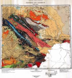 K-42-Б (Чикмент). Геологическая карта Казахской ССР