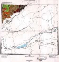 K-42-Г (Ташкент). Геологическая карта Казахской ССР