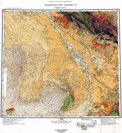 K-42-A (Туркестан). Геологическая карта Казахской ССР