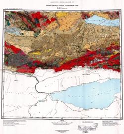 K-43-Б (Алма-Ата). Геологическая карта Казахской ССР