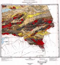 K-44-А (Пржевальск). Геологическая карта Казахской ССР