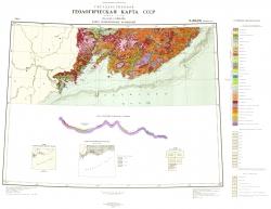 K-(52),(53) (Владивосток). Государственная геологическая карта СССР. Карта четвертичных отложений