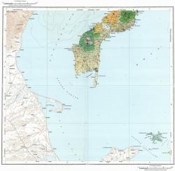 K-55-II. Карта полезных ископаемых СССР. Серия Курильская