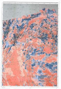 Карта аномального магнитного поля Казахстана