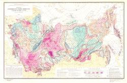 Карта геотермического режима земной коры территории СССР