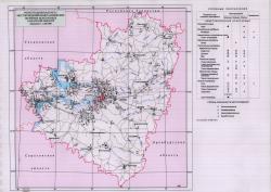 Карта месторождений неметаллических полезных ископаемых Самарской области