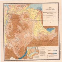 Карта новейшей тектоники Сибирской платформы