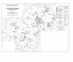 Карта полезных ископаемых Калужской области