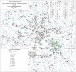 Карта полезных ископаемых Московской области.