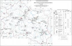 Карта полезных ископаемых Орловской области