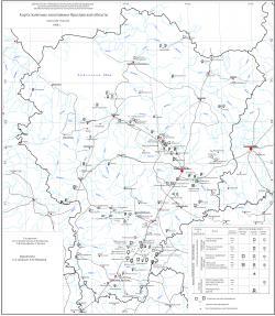 Карта полезных ископаемых Ярославской области.