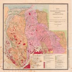 Карта тектонического районирования фундамента Сибирской платформы