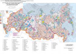 Картограмма геологической изученности масштаба 1:200000 территории Российской Федерации (прохождение листов ГК-200 в НРС)
