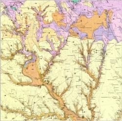 L-36-II (Вознесенск). Геологическая карта СССР. Серия Центральноукраинская. Карта полезных ископаемых