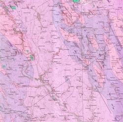 L-36-II (Вознесенск). Геологическая карта СССР. Серия Центральноукраинская. Карта поверхности домезозойских образований